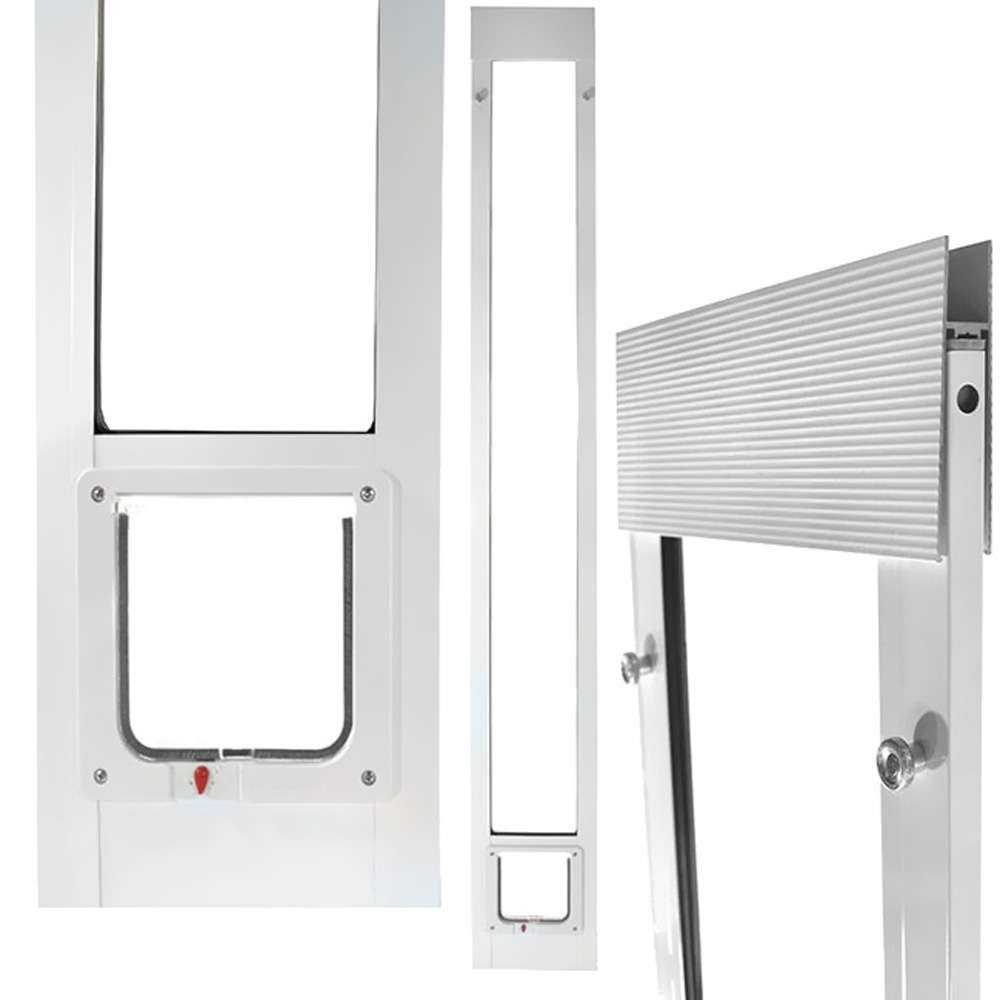 Fast Fit Pet Patio Door 80 Cat Flap Small White