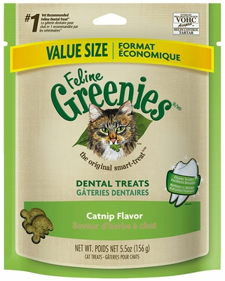 Greenies Feline Dental Treats - Catnip Flavor (5.5 oz)