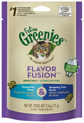 Feline Greenies Dental Treat Fish & Tuna Flavor (2.5 oz)