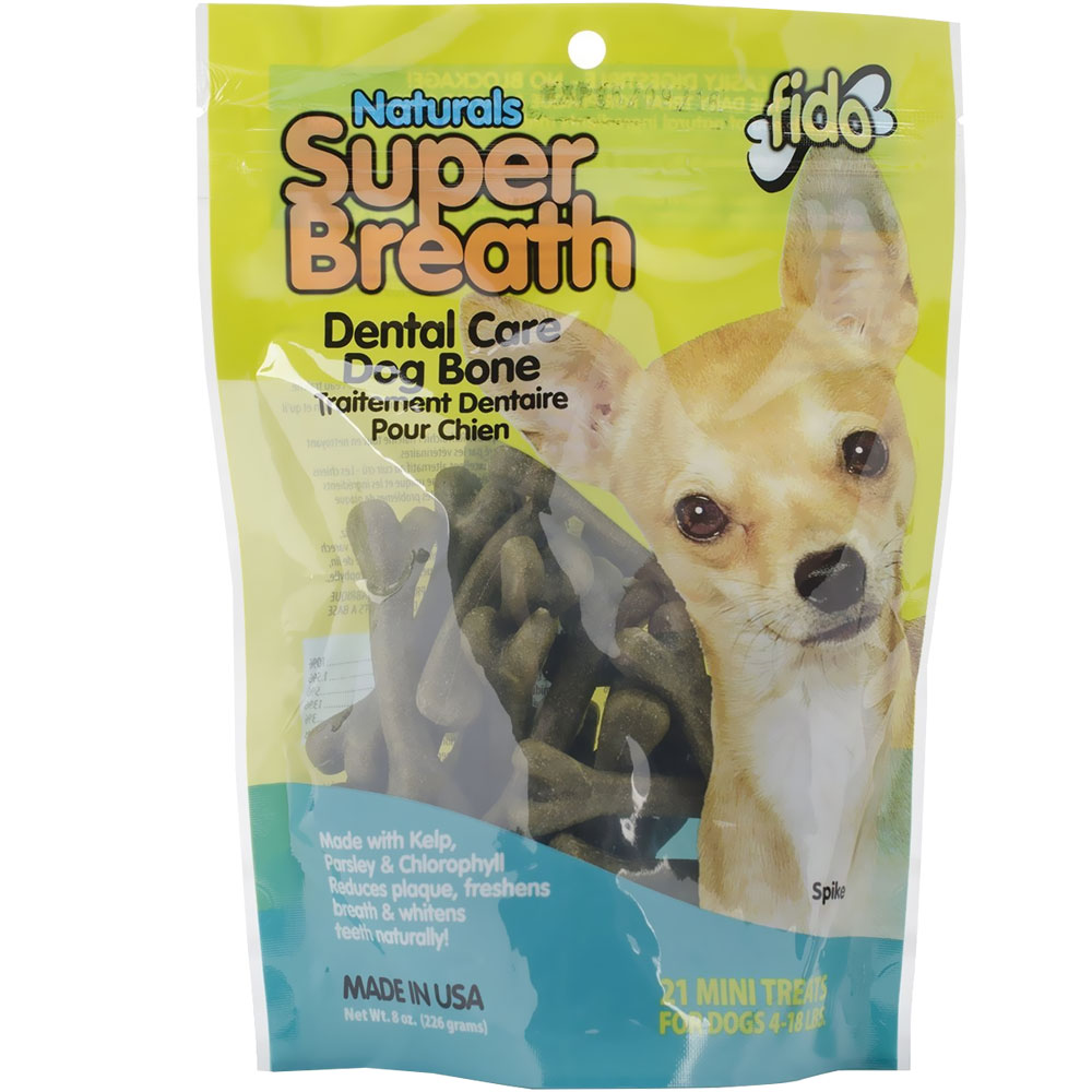 Fido Dental Care Super Breath Bones (Mini 21 Pack)