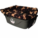 "FidoRido Pet Car Seat - Black/Tan (24""x18x10"")"