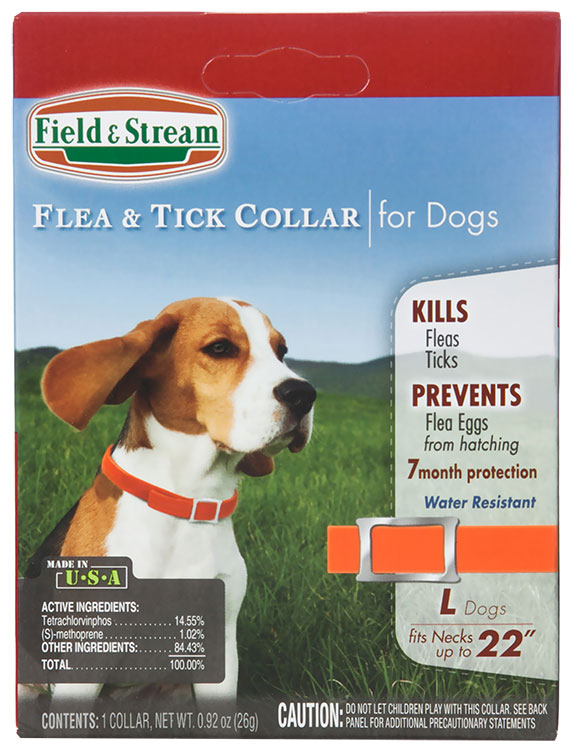 """Field & Stream Flea & Tick Collar for Dogs with Necks up to 22"""""""