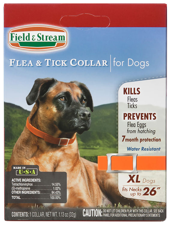 """Field & Stream Flea & Tick Collar for Dogs with Necks up to 26"""""""