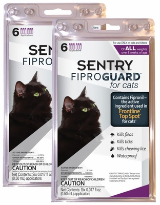Fiproguard Flea & Tick Squeeze-On for Cats, 12-PACK