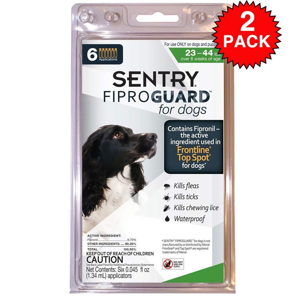 Fiproguard Flea & Tick Squeeze-On for Dogs 23-44 lbs, 12-PACK