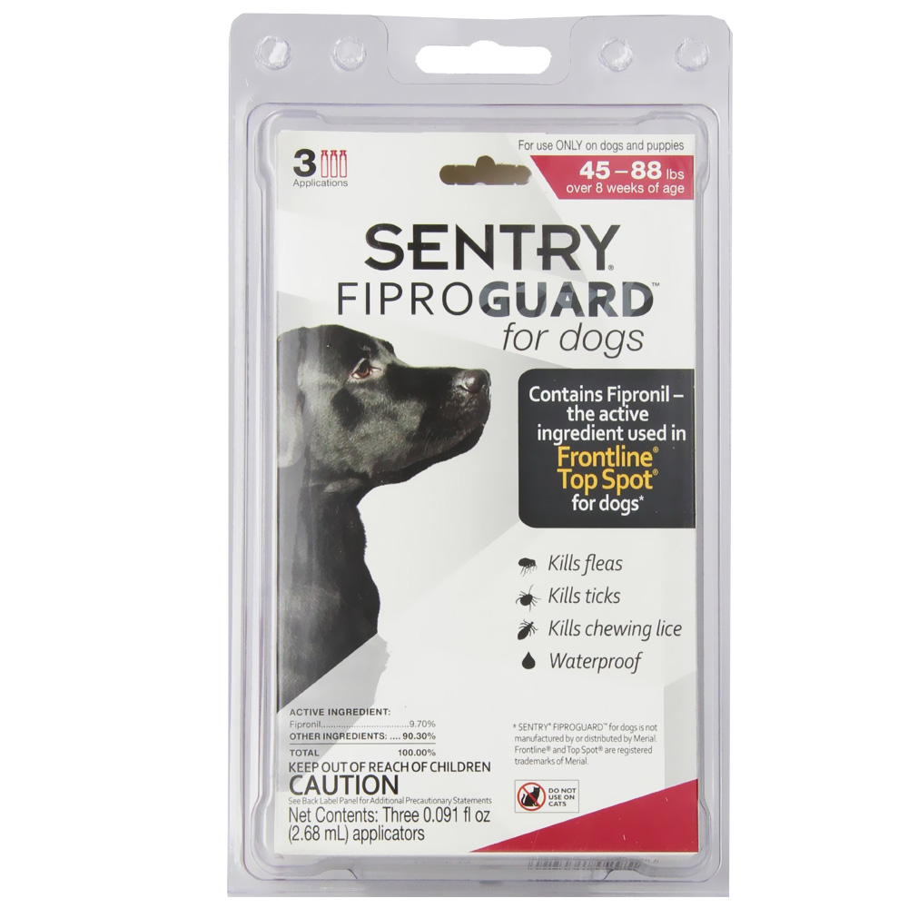 Fiproguard Flea & Tick Squeeze-On for Dogs 45-88 lbs, 3-PACK