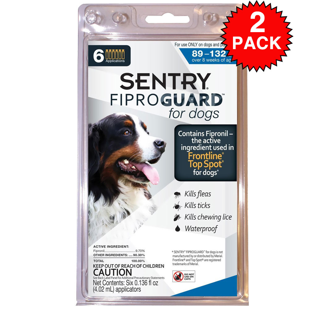 Fiproguard for Flea & Ticks on Dogs 89-132 lbs, 12-PACK