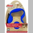 Flexi Explore Cord Retractable Leash - Medium 44 lbs. - Blue 23 ft.