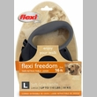 Flexi Freedom Tape Retractable Leash - Large 110 lbs. - Black/Black 16 ft.