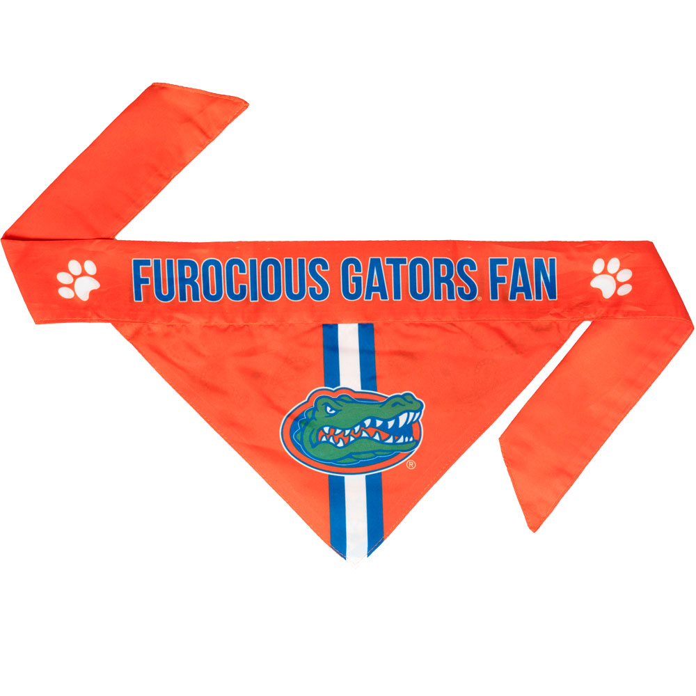 Florida Gators Dog Bandana - Tie On (Large)