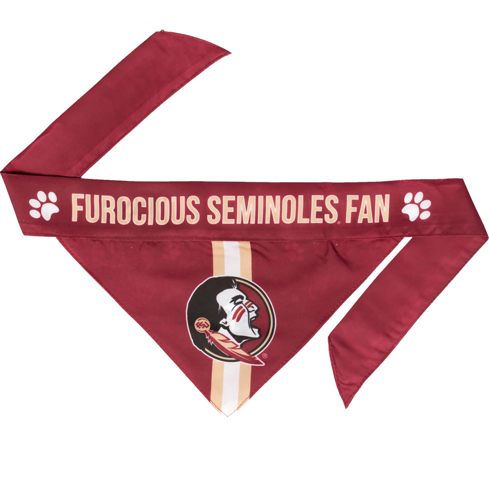 Florida State Dog Bandana - Tie On (Large)