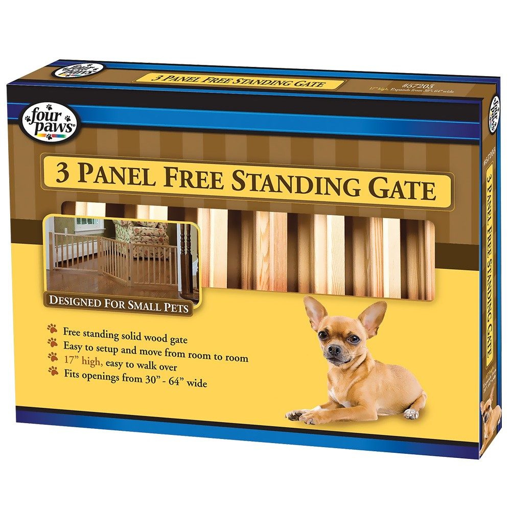 Four Paws Walk Over Wood Gate