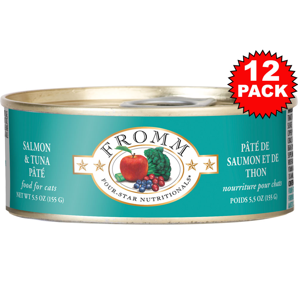 Fromm Four-Star Cat Food - Canned Salmon & Tuna Pate (12x5 oz)