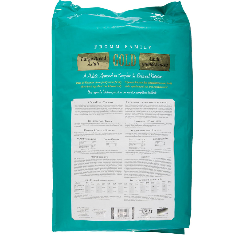 Ingredients In Fromm Adult Dry Dog Food