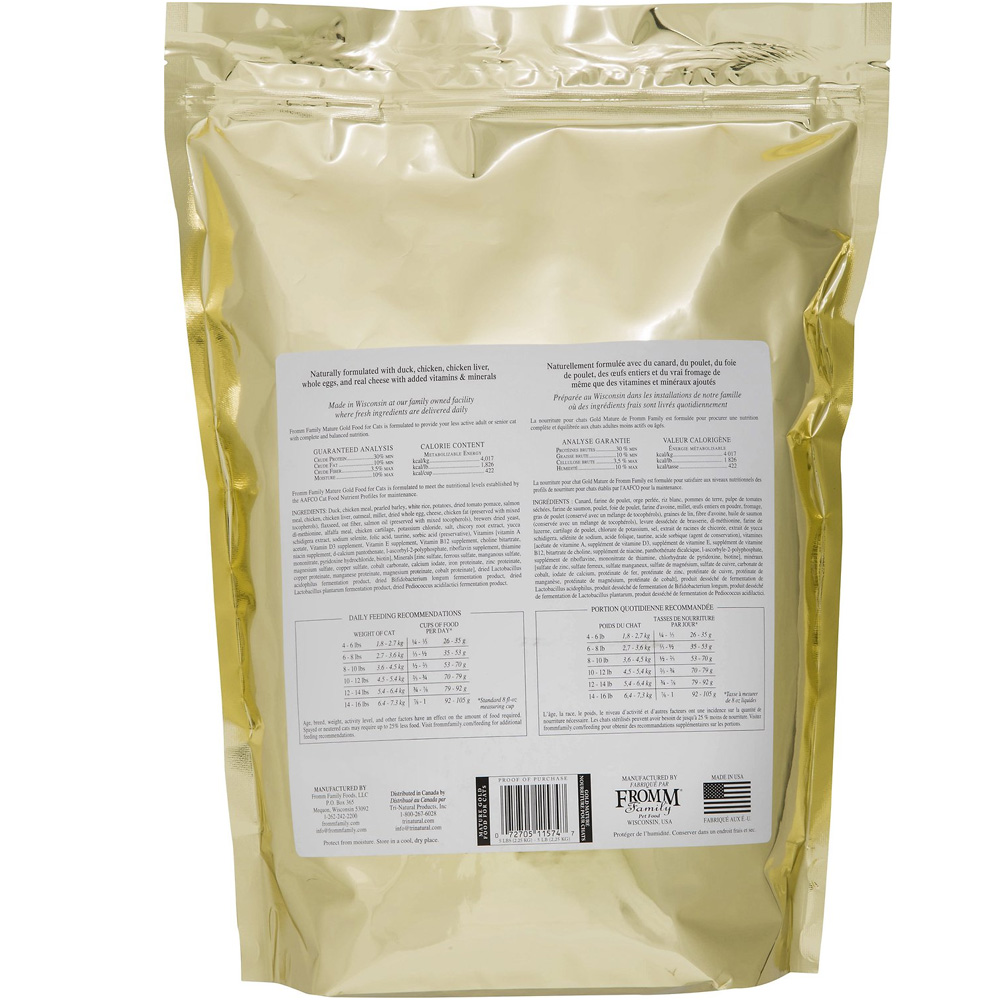 Fromm Mature Gold Cat Food Reviews