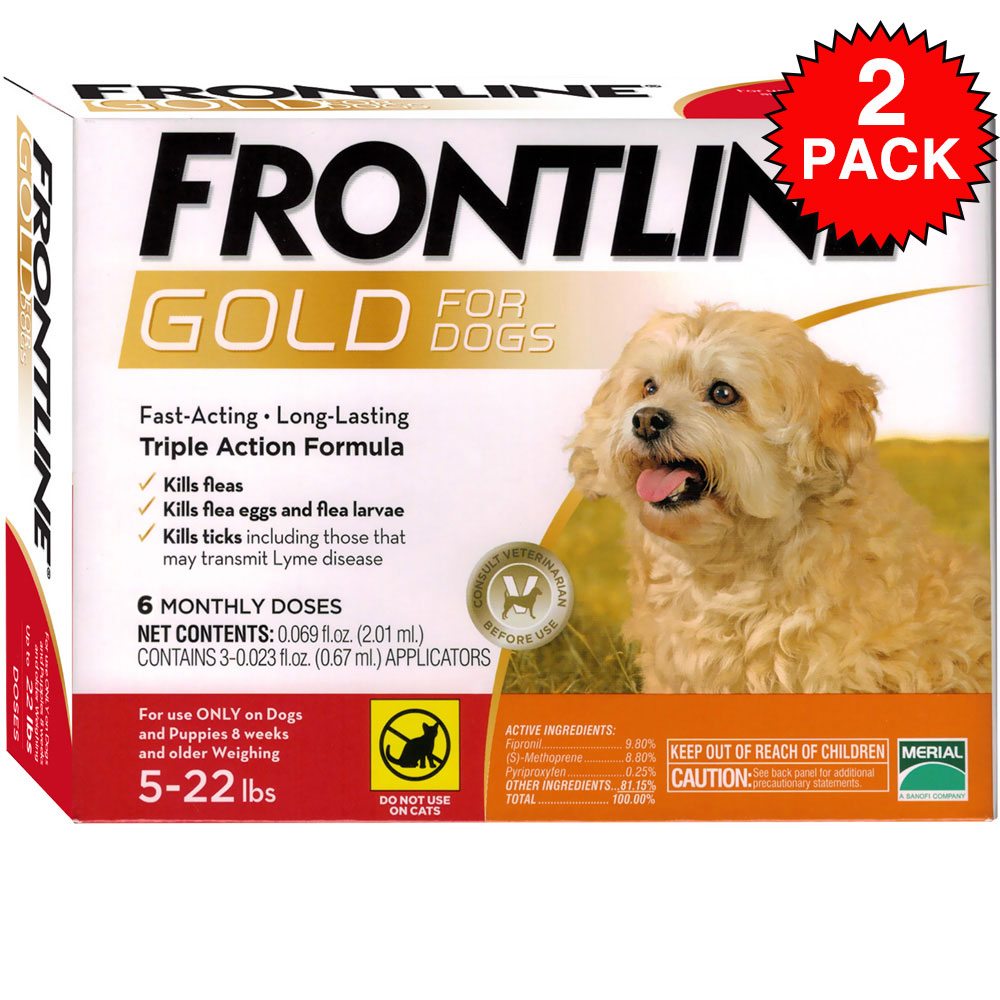 Frontline GOLD for Dogs 5-22 lbs - ORANGE (12 MONTH)