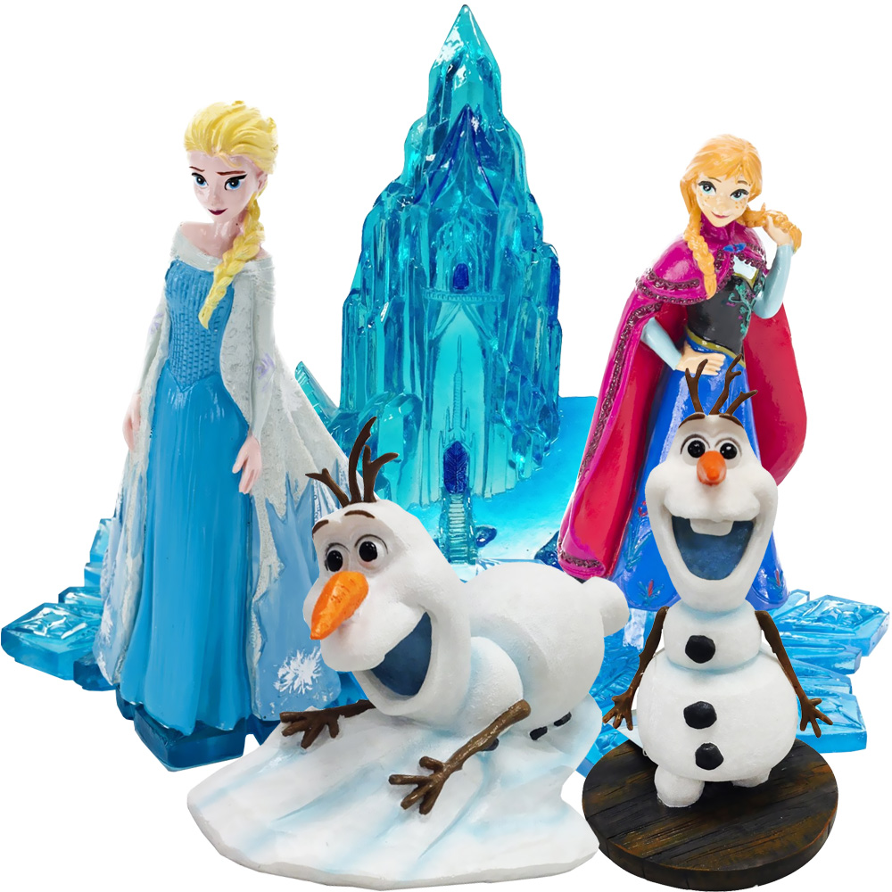 Frozen Characters & Mini Ice Castle Aquarium Ornament Set