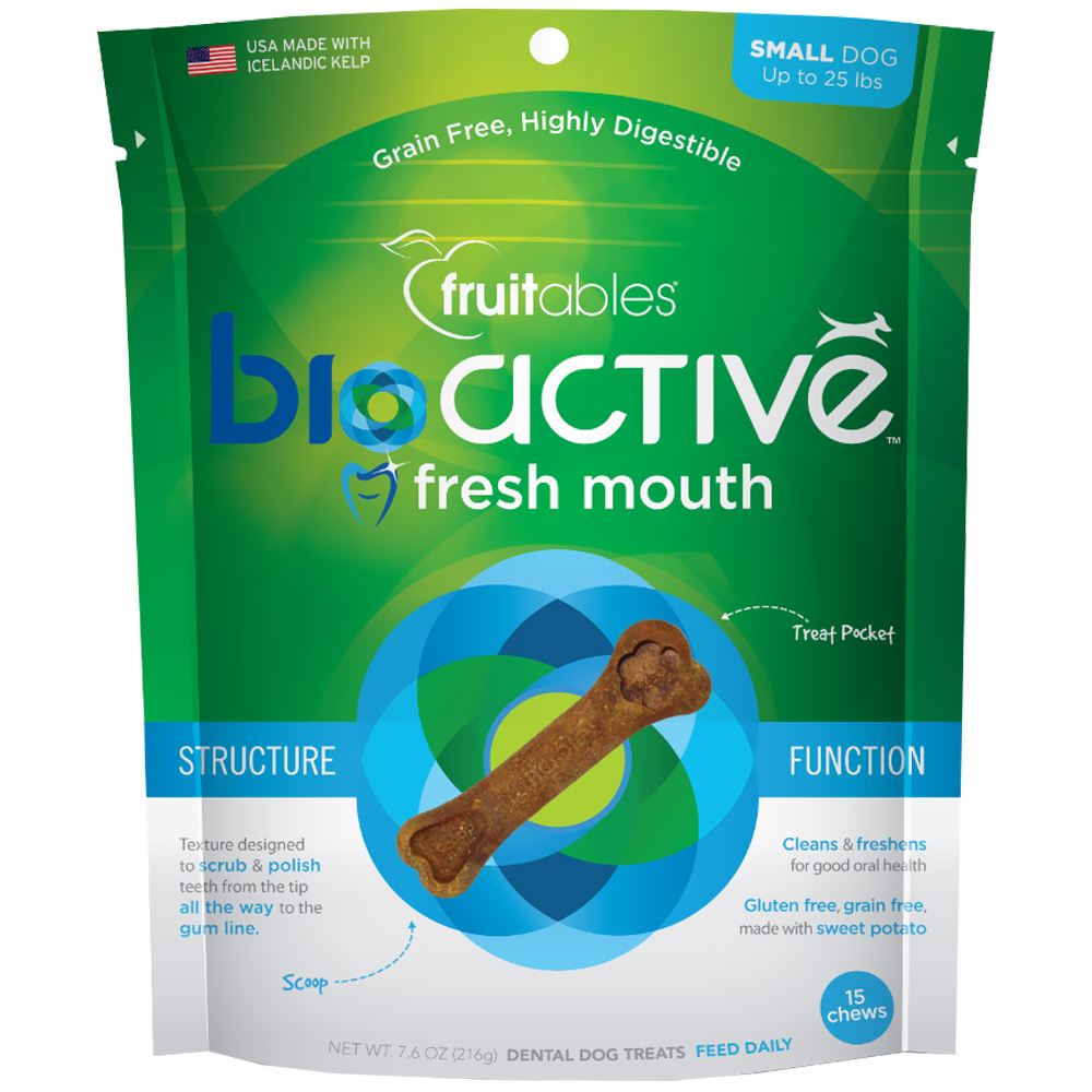 Fruitables BioActive Fresh Mouth Dental Chews - Small (15 Count)