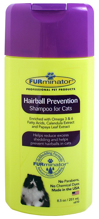 FURminator Hairball Prevention Shampoo for Cats (8.5 oz)