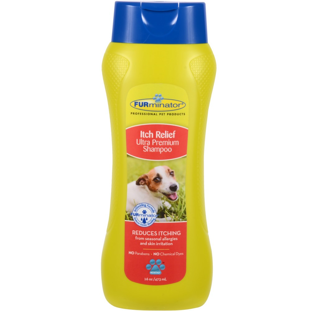 FURminator Itch Relief Ultra Premium Shampoo for Dogs (16 oz)