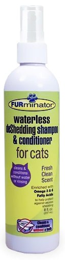 FURminator Waterless deshedding Shampoo & Conditioner for Cats (8 oz)