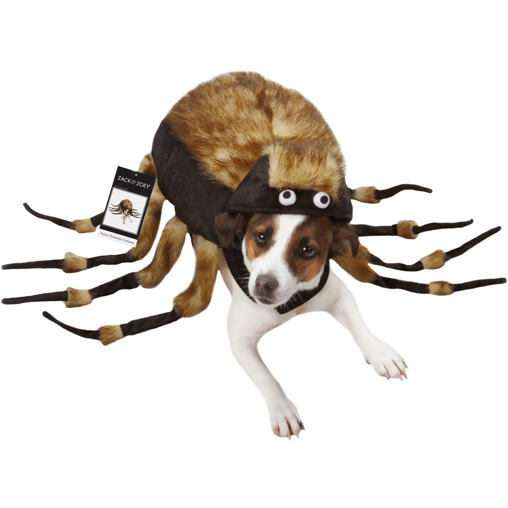 Fuzzy Tarantula Dog Costume - MEDIUM