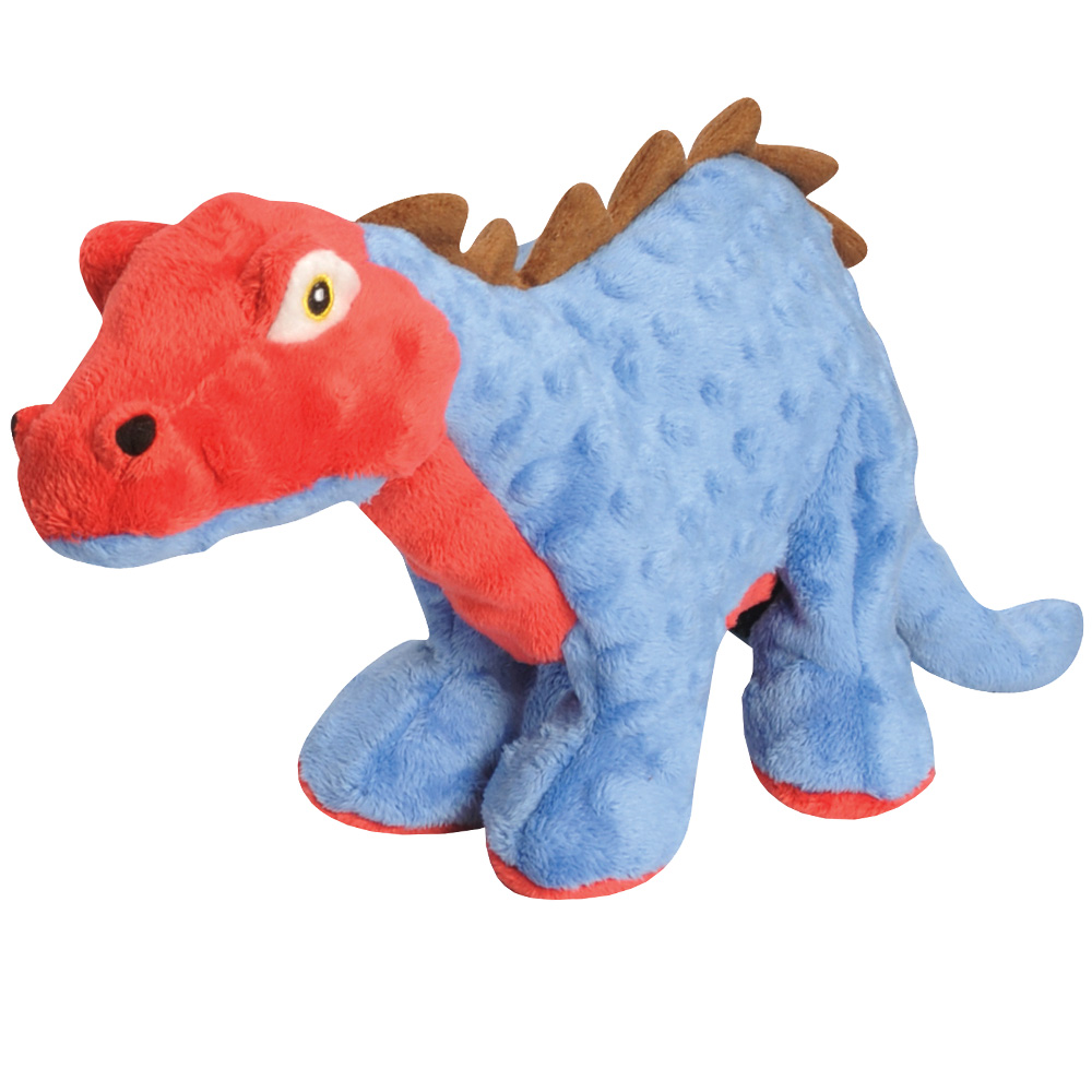 GoDog Spike Plated Dinosaur with Chew Guard - Blue