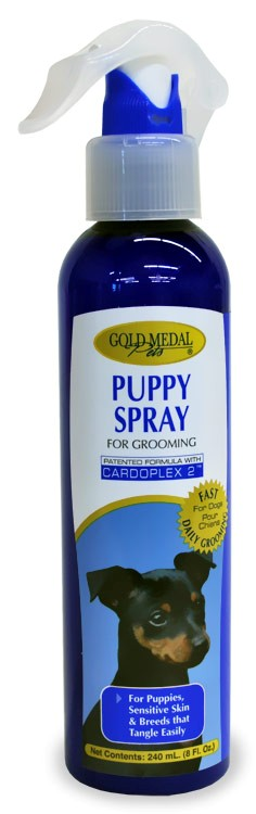 Gold Medal Puppy Spray for Grooming with Cardoplex (8 oz)