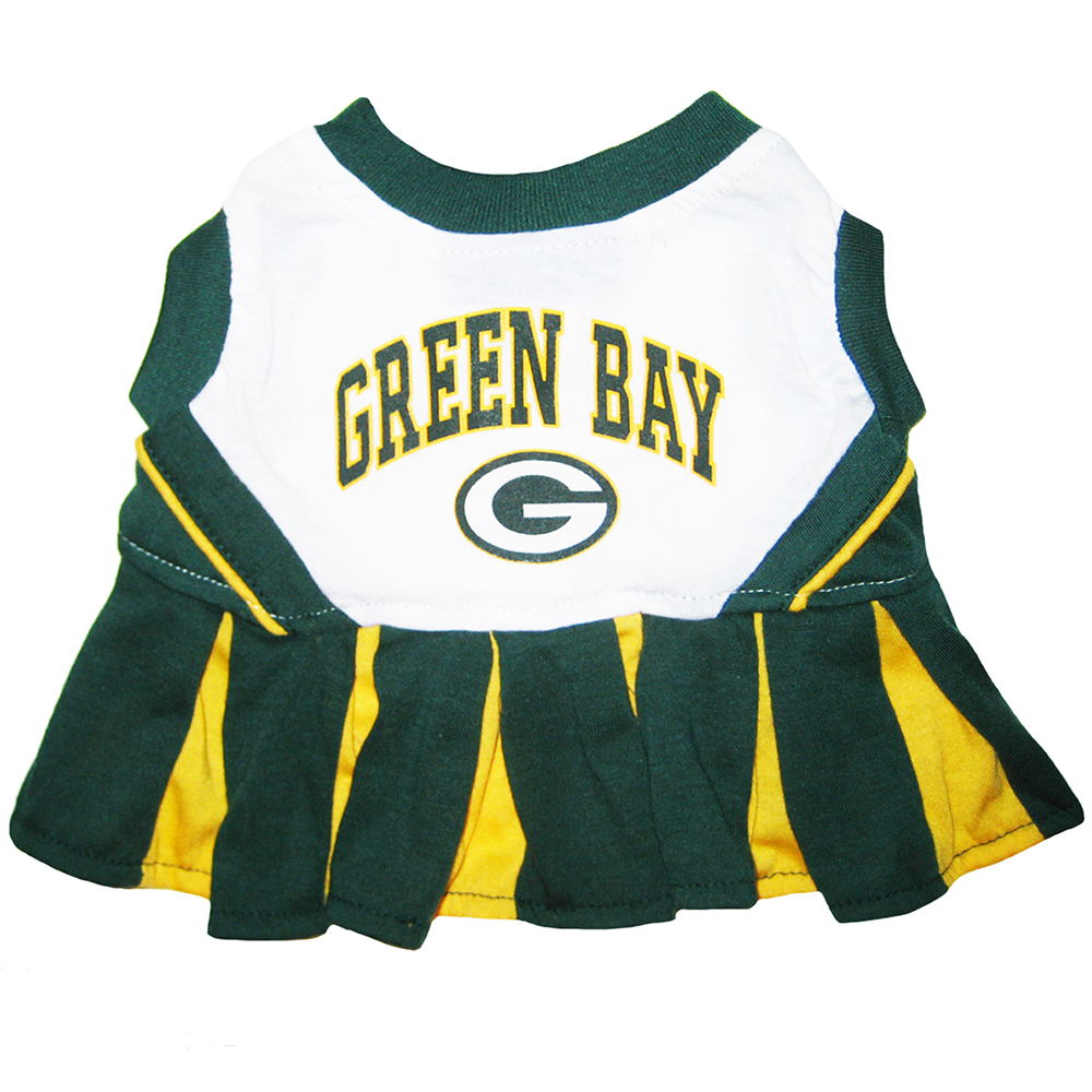Green Bay Packers Cheerleader Dog Dresses
