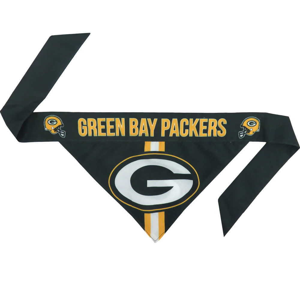 Green Bay Packers Dog Bandana - Tie On (Large)