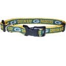 Green Bay Packers Dog Collar - Ribbon (Medium)