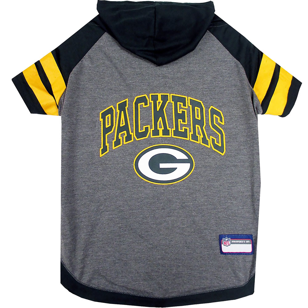 Green Bay Packers Dog Hoody Tee Shirt - XSmall
