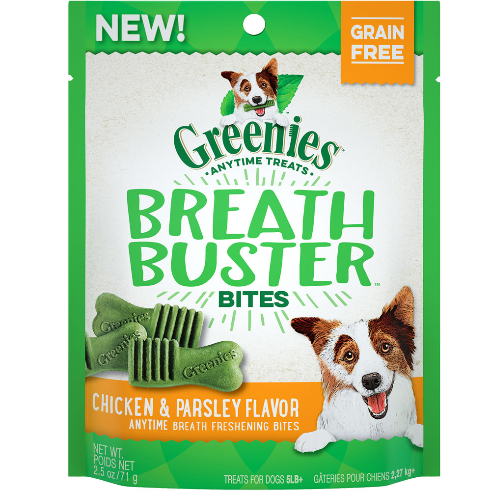 Greenies Breath Buster Bites - Chicken & Parsley (2.5 oz)