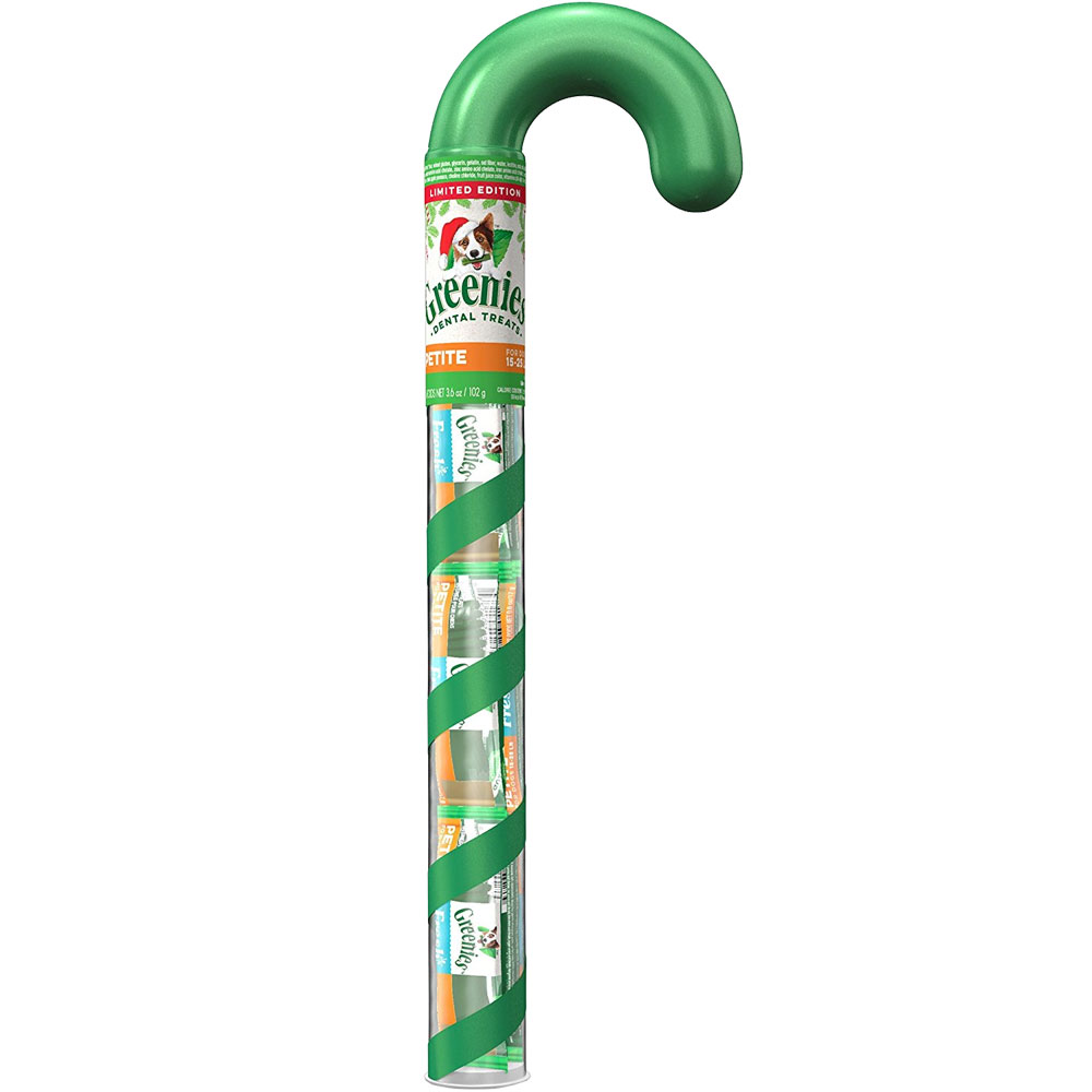 Greenies Dental Chews Holiday Candy Cane Tube - PETITE 6 Treats (3.6 oz)