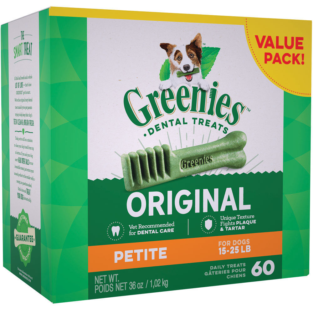 GREENIES Dental Chews Value Size - PETITE 36 oz (60 chews)