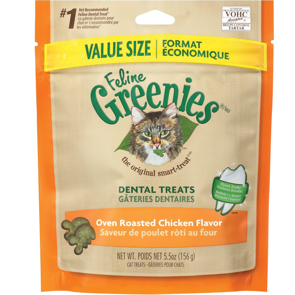 Greenies Feline Dental Treats - Oven Roasted Chicken Flavor (5.5 oz)