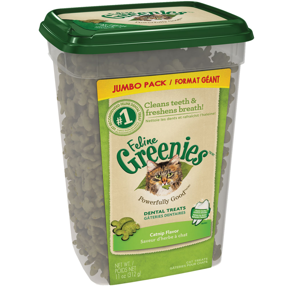 Greenies Feline Dental Treats - Catnip Flavor (11 oz Tub)