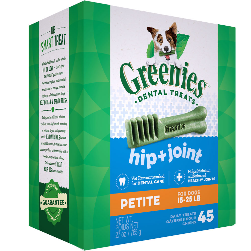 GREENIES Hip & Joint Care Canine Dental Chews - PETITE (27 oz)