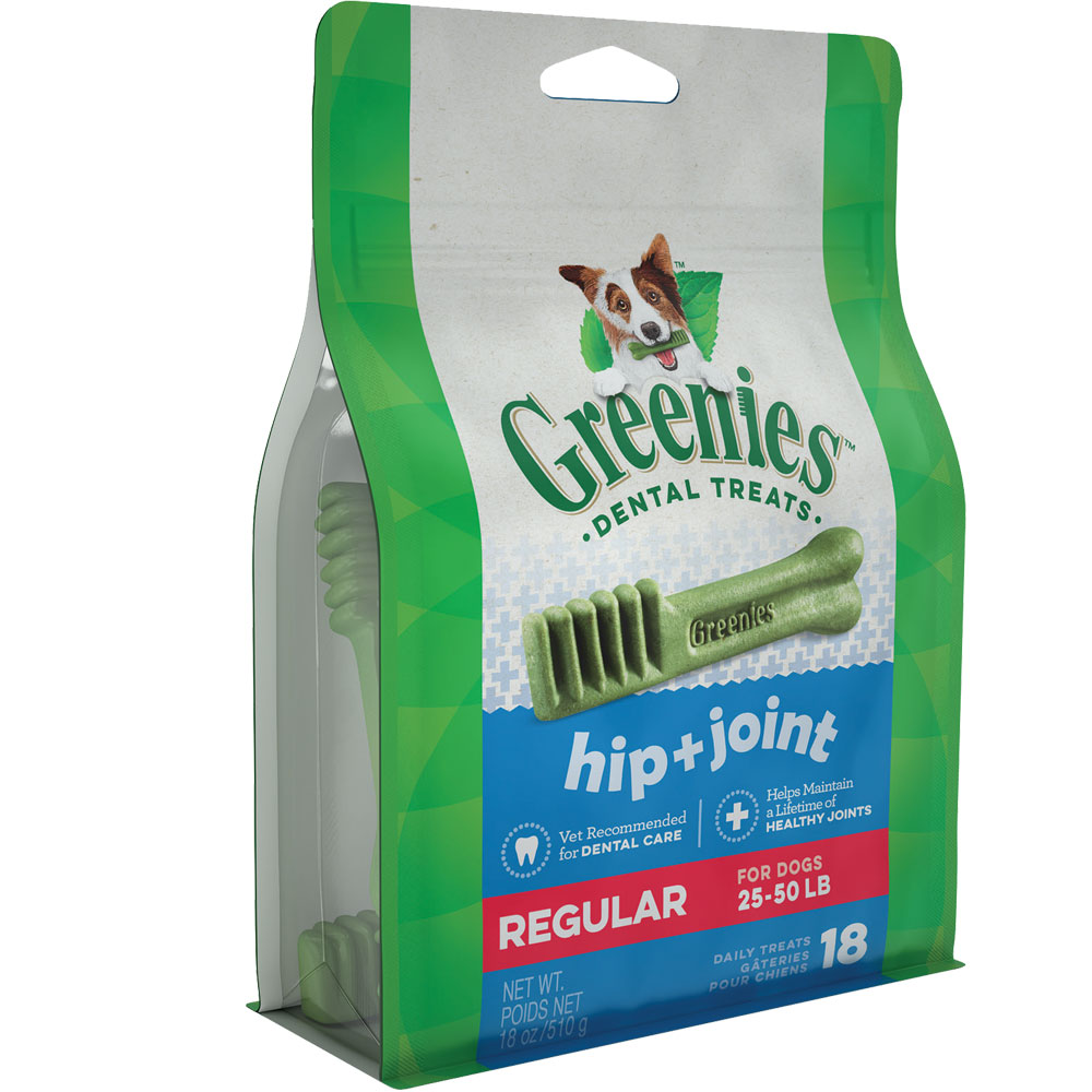 GREENIES Hip & Joint Care Canine Dental Chews - REGULAR 18oz (18 Chews)