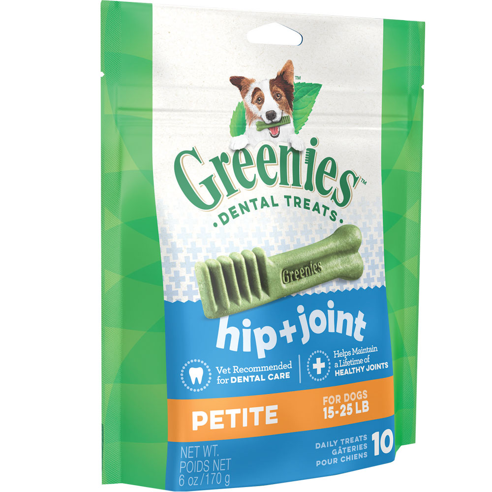 Greenies Hip & Joint Care Dental Chew - Petite (10 Bones)