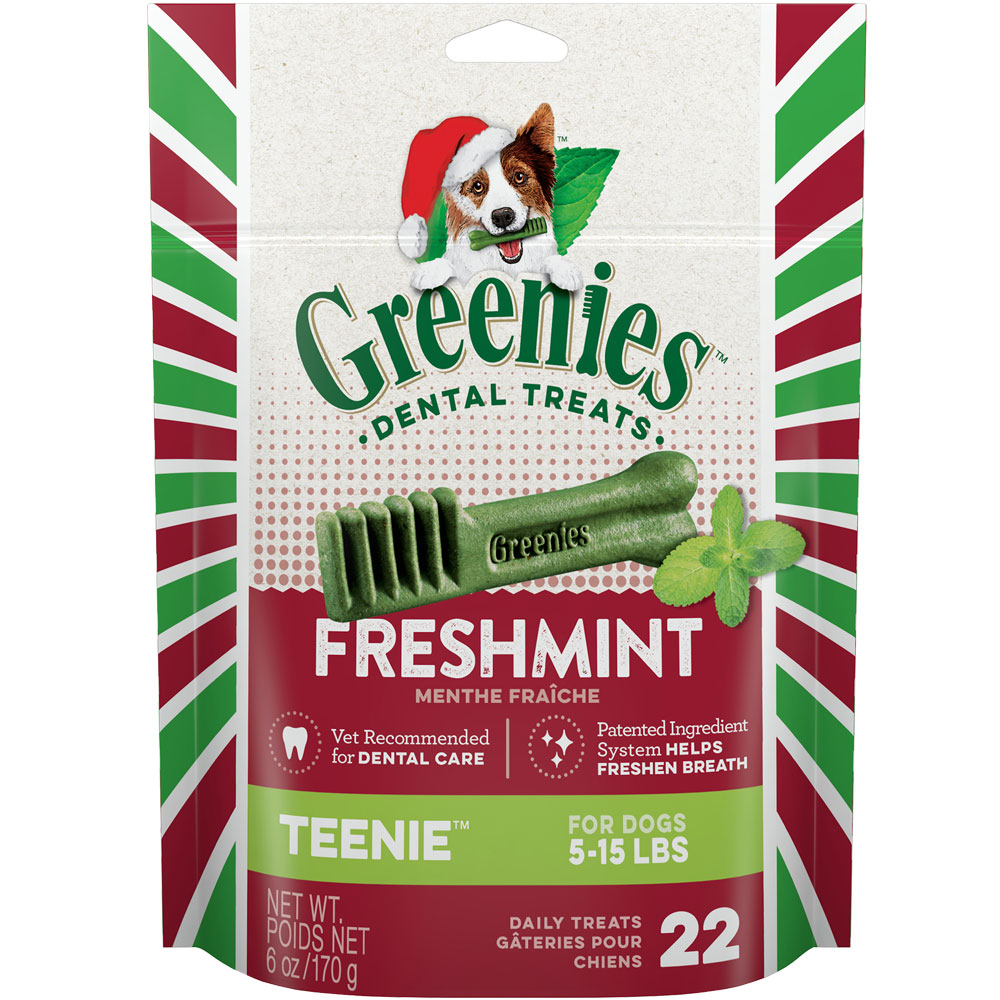 Greenies Holiday Dental Chews Freshmint - TEENIE 22 Treats (6 oz)