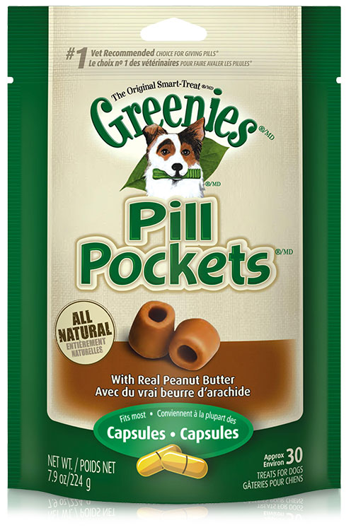 GREENIES Pill Pockets Peanut Butter Formula 7.9 oz (30 count)