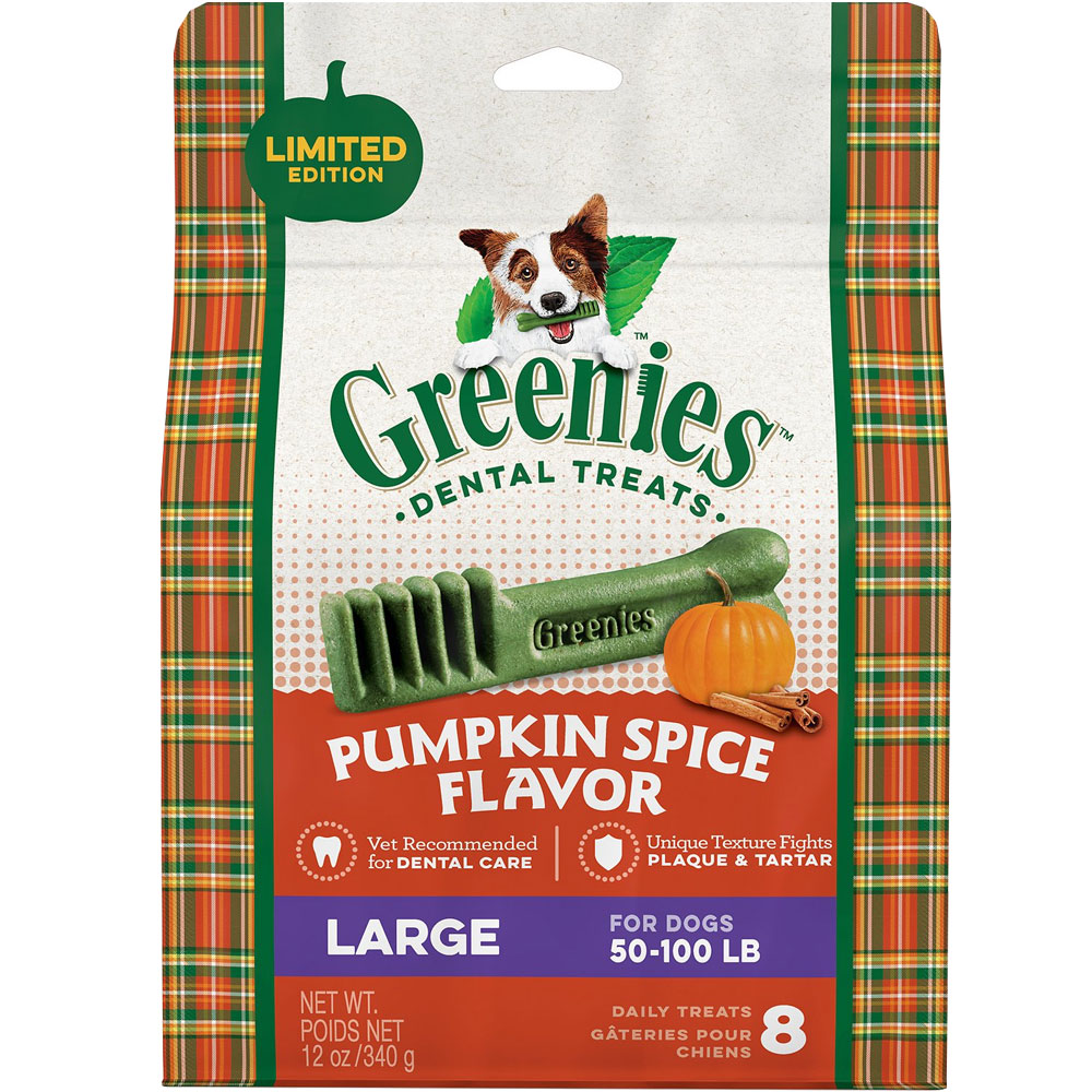 GREENIES Pumpkin Spice Flavor - LARGE (8 count)