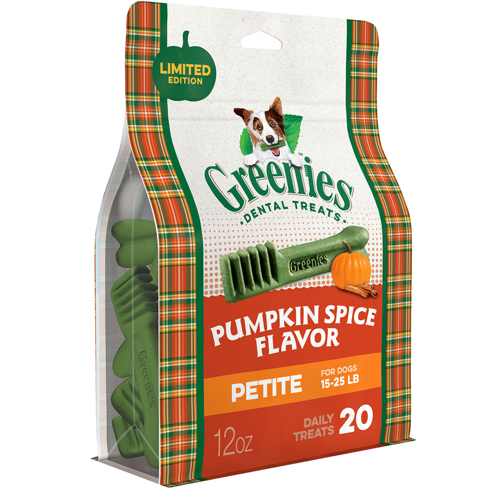 GREENIES Pumpkin Spice Flavor - PETITE (20 count)