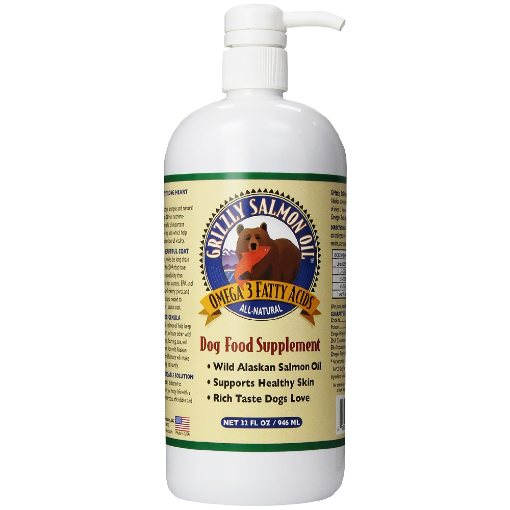Grizzly salmon oil for dogs 32 oz for Fish oil supplements for dogs