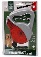 Guardian Gear Comfort Grip Retractable Leads - Jewel Tone Red / Grey UP TO 100 lbs.