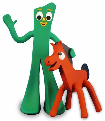 "Gumby 9"" and Pokey 6"" Dog Toys"