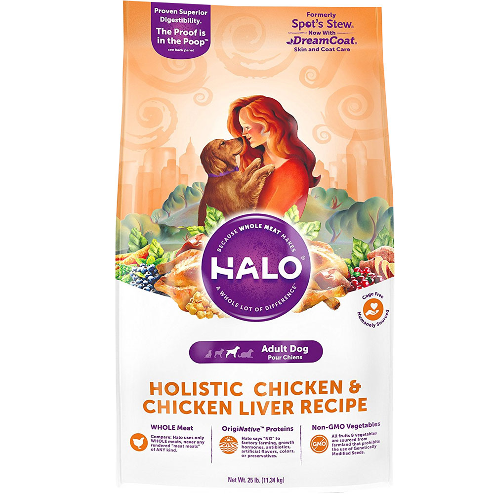 HALO Spot's Stew Wholesome Chicken Dry Adult Dog Food (25 lb)