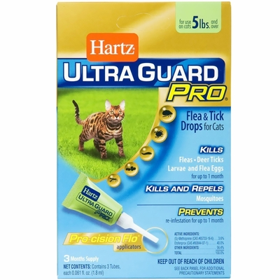 Hartz UltraGuard Pro Flea & Tick Drops for Cats - Over 5 lbs