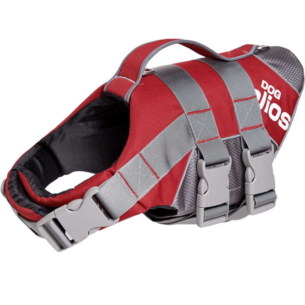 Helios Splash-Explore Outer Performance 3M Reflective & Adjustable Buoyant Dog Harness & Life Jacket - Red (Small)